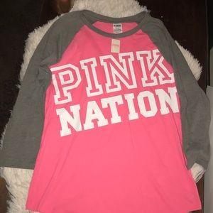 Victoria Secret Pink Nation t shirt
